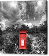 Rural Post Box Acrylic Print by Mal Bray