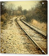 Rural Railroad Tracks Acrylic Print