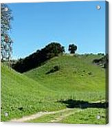 Rural Rolling California Hills Acrylic Print