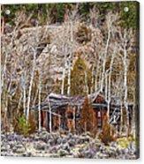 Rural Rustic Rundown Rocky Mountain Cabin Acrylic Print