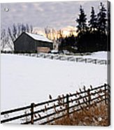 Rural Winter Landscape Acrylic Print