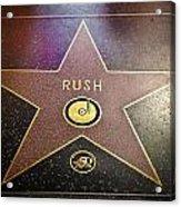 Rush Has A Star Acrylic Print