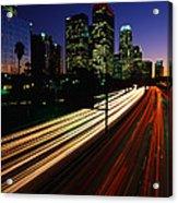 Rush Hour Harbor Freeway Los Angeles Ca Acrylic Print