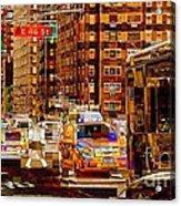 Rush Hour - Traffic In New York Acrylic Print