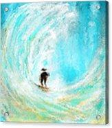 Rushing Beauty- Surfing Art Acrylic Print