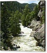Rushing Water In Boulder Canyon Acrylic Print