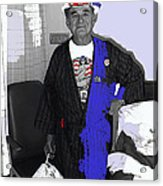 Russell Short Celebrating July 4th Tucson Medical Center Tucson Arizona 1990 Acrylic Print