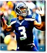 Russell Wilson Smooth Delivery Acrylic Print