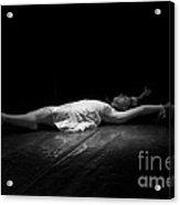 Russian Ballerina As A Melting Snowflake. Acrylic Print