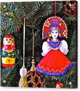 Russian Christmas Tree Decoration In Fredrick Meijer Gardens And Sculpture Park In Grand Rapids-mi Acrylic Print