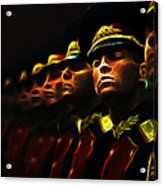 Russian Honor Guard - Featured In Men At Work Group Acrylic Print