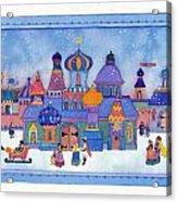 Russian Snowfall Fantasy Acrylic Print