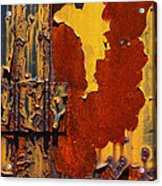 Rust Abstract Acrylic Print