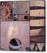 Rust And Metal Abstract  Acrylic Print