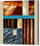 Rust And Rocks Rectangles Acrylic Print