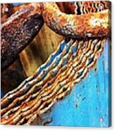 Rust Art  Acrylic Print by Natalya Karavay