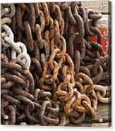 Rust Chains Acrylic Print