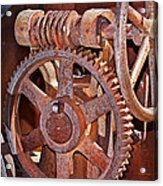 Rust Gears And Wheels Acrylic Print