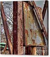 Rust Acrylic Print by MJ Olsen