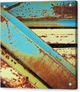 Rust N Turquoise Acrylic Print