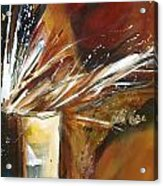 Rust With Gold 1 Acrylic Print