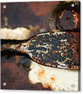 Rusted Camouflage Acrylic Print