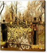 Rusted Cemetery Gate Acrylic Print