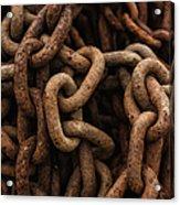 Rusted Chain Acrylic Print