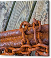 Rusted Chained Acrylic Print
