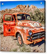 Rusted Classics - Job Rated Acrylic Print