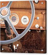 Rusted Dash Of Classic Car Acrylic Print