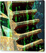 Rusted Gears Abstract Acrylic Print