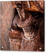 Rusted Gold Mine Equipment Acrylic Print