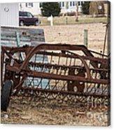 Rusted Hay Rake Acrylic Print