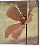 Rusted Iron Flower Acrylic Print