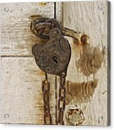 Rusted Lock Acrylic Print