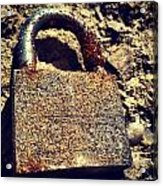 Rusted Lock Acrylic Print by Troy Lewis