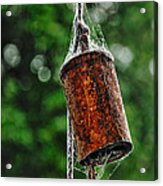 Rusted Old Cowbell Acrylic Print