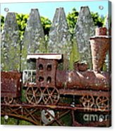 Rusted Rails Acrylic Print