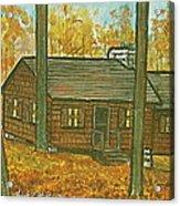 Rustic Cabin At Lake Hope Ohio Acrylic Print