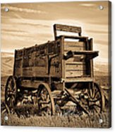 Rustic Covered Wagon Acrylic Print
