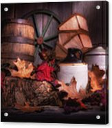 Rustic Fall Still Life Acrylic Print