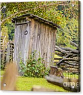 Rustic Fence And Outhouse Acrylic Print