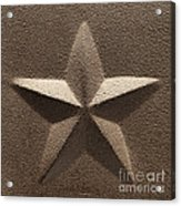 Rustic Five Point Star Acrylic Print