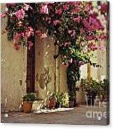 Rustic Greek Townhouse Acrylic Print