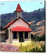 Rustic Old Schoolhouse Near San Simeon California Acrylic Print