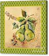 Rustic Pears On Moroccan Acrylic Print