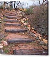 Rustic Stairway Acrylic Print