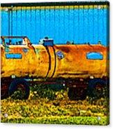 Rustic Tank Art Acrylic Print