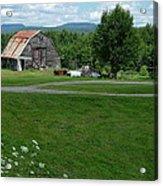 Rustic Vermont Barn Acrylic Print